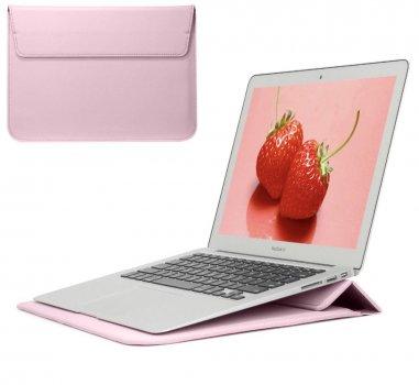 Чехол конверт для ноутбука из Эко-кожи DDC для Macbook Pro 16 Розовый (DDC306)