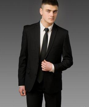 Чоловічий костюм West-Fashion А-75А чорний 188