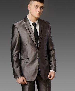 Мужской нарядный костюм West-Fashion А-21 серый 182