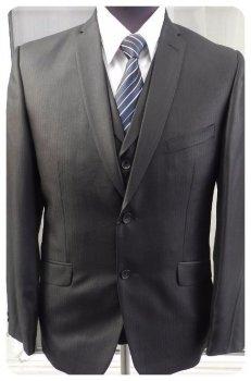 Мужской костюм West-Fashion тройка А-696 черный 182