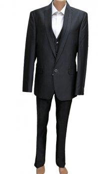 Чоловічий костюм West-Fashion трійка 1082 сірий 182
