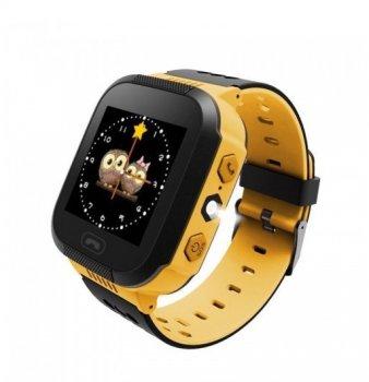 Дитячі годинник Smart Q528 з GPS трекером Жовті