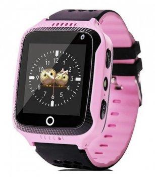 Дитячі годинник Smart Q528 з GPS трекером Рожеві
