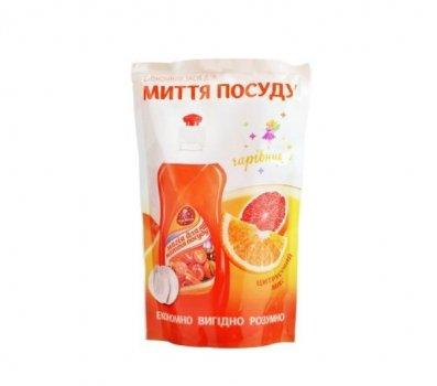Средство для мытья посуды аромат цитрусовый микс 450 гр Дой-пак Чаривница