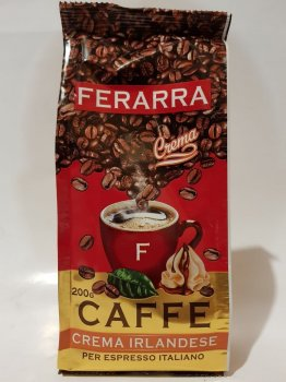 Кава в зернах Ferarra Crema Irlandese з ароматом ірландського крему 200г