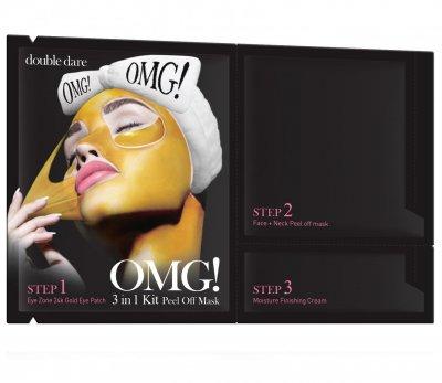 Комплекс масок трехкомпонентный Double Dare Omg! 3in1 Kit Peel Off Mask для обновления кожи лица 1 шт (812772011432)