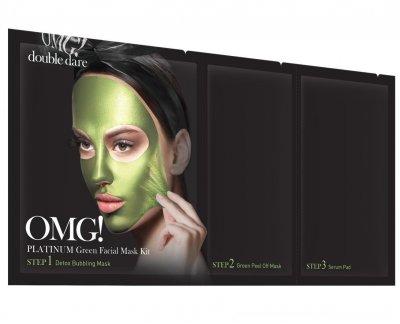 Трехкомпонентный комплекс масок Double Dare Omg! Platinum Green Facial Mask Kit Увлажнение и Себоконтроль 1 шт (812772011852)