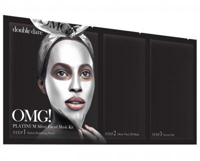 Трехкомпонентный комплекс масок Double Dare Omg! Platinum Silver Facial Mask Kit Активный лифтинг и восстановление 1 шт (812772011890)
