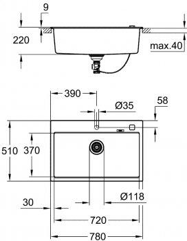 Кухонная мойка GROHE K-Series K 700 31652AP0