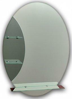 Зеркало с полочками (овальное) Seria A №17 (750х550х120 мм)