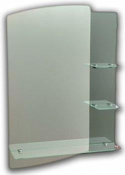 Зеркало в ванную на три полки Seria A №43 (700х500х120 мм)