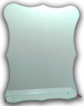Зеркало фигурное с полочкой Seria A №18 (640х495)