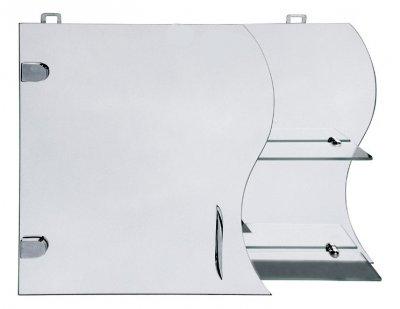 Зеркальный шкафчик в ванную Seria A № А17-45 с волнообразным фасадом