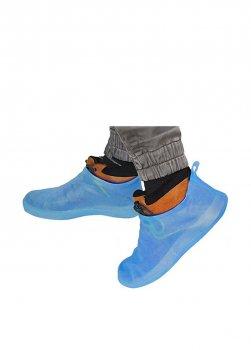 Бахилы для обуви многоразовые р.41-42 голубые BR25629