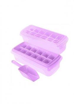 Форма для льоду з с контейнером і лопаткою Stenson 27*10см рожева R82590