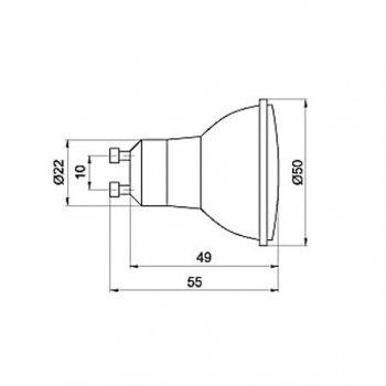 Лампа світлодіодна Brilum GU-10D 21LED 1,3 W червона