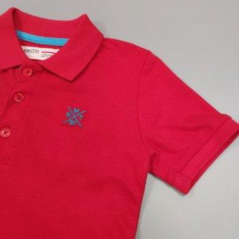 Поло для мальчика с коротким рукавом Minoti 1POLO9 Красный