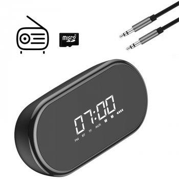 Годинник-будильник з акустичною системою Baseus Bluetooth і FM радіо