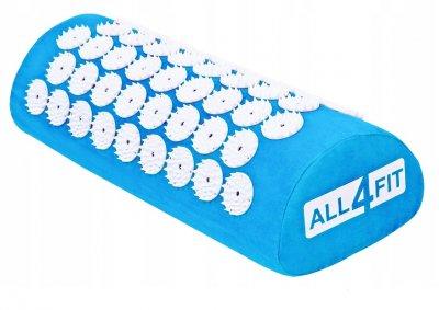 Набор коврик массажно-акупунктурный+подушка All4Fit, голубой (JS3763)