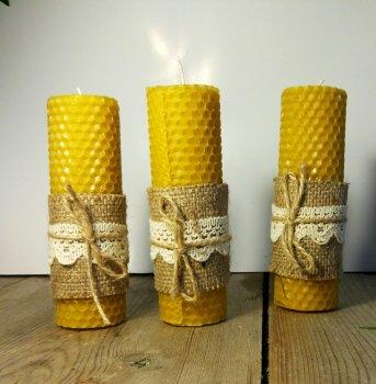 Натуральная свеча Bila Lileya из вощины