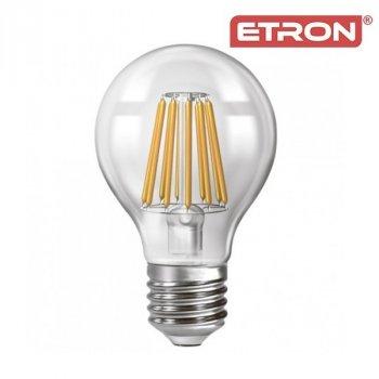 Світлодіодна LED лампа ETRON Filament 15W A60 3000K E27 прозора