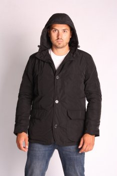 Куртка ZIBSTUDIO на пуговицах с капюшоном Чёрный