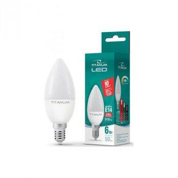 Світлодіодна лампа Videx Titanum TL-C37-06144 (E14/6W/220V/4100K)