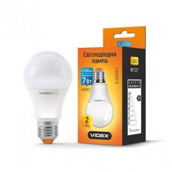 Світлодіодна лампа Videx Standart VL-A60E-07274 (E27/7W/220V/4100K)