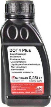 Жидкость тормозная Febi DOT4 Plus 0,25л