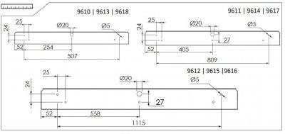 Світильник настінний Nowodvorski STRAIGHT LED 11W S 9618 графіт