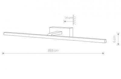 Світильник Nowodvorski VAN GOGH 18W LED L 9174 чорний IP44