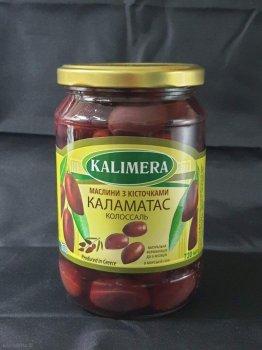 Оливки Kalimera Каламата Colossal 121-140 з кісткою, 720 мл