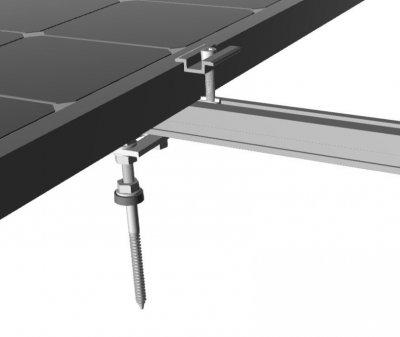 Кріплення сонячних батарей для похилого даху з алюмінію