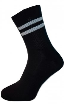 Носки Нова пара 472 высокие , высокая резинка+резинка на стопе, спорт Чорные