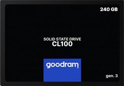 Накопичувач SSD 240Gb Goodram CL100 (Gen.3), SATA3 (SSDPR-CL100-240-G3)