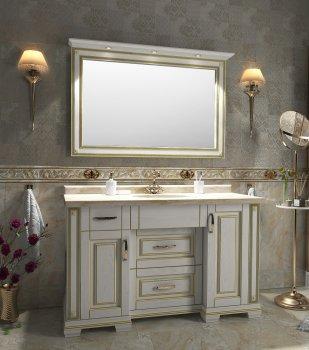 Тумба Ваші меблі Мармур 150 см з умивальником і дзеркалом