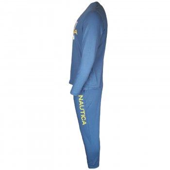 Чоловіча піжама Nautica, з довгим рукавом SUPER SOFT, синій, FKL902