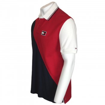 Рубашка поло Tommy Hilfiger с длинным рукавом в стиле регби в винтажном стиле белый,синий,красный,715676297967