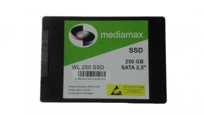 Накопитель SSD 250GB Mediamax 2.5 SATAIII TLC (WL 250 SSD) Refurbished наработка до 1%