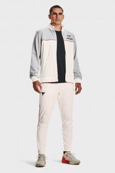 Мужские белые спортивные брюки UA PJT ROCK KNIT TRACK PANT Under Armour 1357201-112