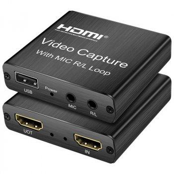 Внешняя карта видеозахвата 4Sport Capture Card USB 2.0 VCC03 Black (4S-VCC03-BK)