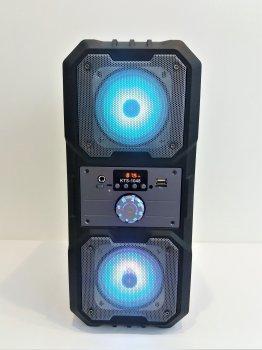 Портативна Колонка Bluetooth KTS 1048 BT бездротова 10 Вт з активною підсвічуванням чорна з сірим