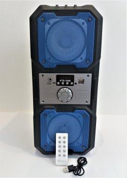 Портативна колонка Bluetooth KTS 1048 BT бездротова 10 Вт з активною чорна з синім підсвічуванням