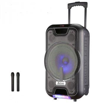 Активна акумуляторна акустика UF-2112 Bluetootth/USB, 2 радіомікрофона