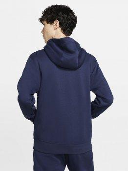 Толстовка Nike M Nsw Club Hoodie Fz Bb BV2645-410 Темно-синя