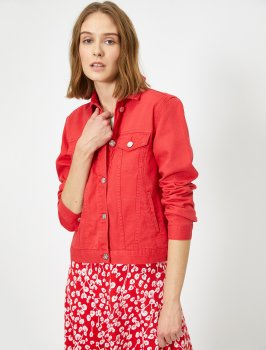 Джинсовая куртка Koton 0YAK57505MD-410 Red