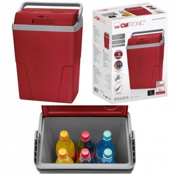 Автохолодильник Clatronic KB 3713 класу A ++ на 25 літрів з двустенным корпусом і функцією енергозбереження 55 Вт Червоний