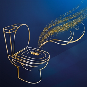 Твердий туалетний блок Bref De Luxe Чарівна місячна квітка 50 г (9000101416947)