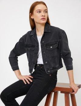 Джинсовая куртка Koton 0KAK57020MD-BD3 Black
