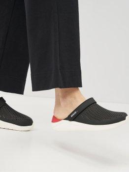 Сабо Crocs Women's LiteRide Clog 204592-066 Черные с белым